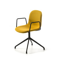 Contemporary office chair / with armrests / swivel / fabric