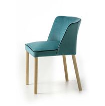 Contemporary chair / upholstered / ash / fabric