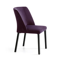 Contemporary restaurant chair / upholstered / bistro / steel