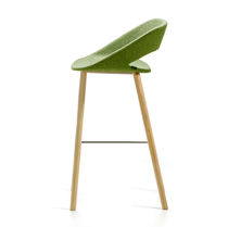 Contemporary bar chair / upholstered / sled base / fabric