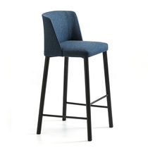 Contemporary bar stool / ash / fabric / contract