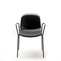 Scandinavian design chair / tablet / stackable / upholstered