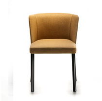 Contemporary chair / upholstered / painted steel