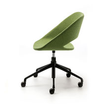 Contemporary office chair / on casters / star base / upholstered