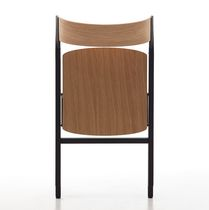 Contemporary auditorium seat / wooden