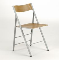 Contemporary chair / ash / folding / contract