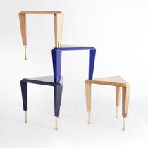 Modular shelf / contemporary / oak / brass