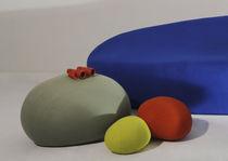 Original design pouf / fabric / round / modular