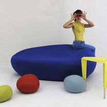 Modular upholstered bench / original design / fabric / for public buildings