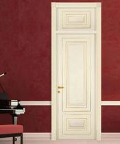 Indoor door / swing / solid wood / with gold decoration