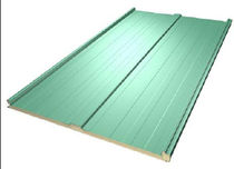 Roof sandwich panel / metal facing / insulating polyurethane (PUR) core