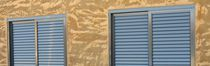 Sliding shutters / aluminum / window / louvered