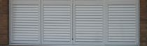 Swing shutters / aluminum / window / louvered