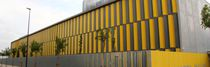 Steel solar shading / for facades / swiveling
