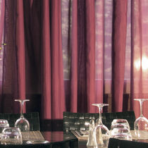Plain sheer curtain fabric / Trevira CS® / polyester / fire-rated