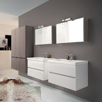 Double washbasin cabinet / wall-hung / laminate / contemporary