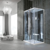 Multi-function shower cubicle / glass / acrylic / steel