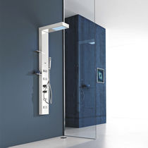 Thermostatic shower column / with hand shower / with integrated light