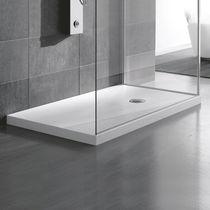 Rectangular shower base / Corian® / extra-flat / flush
