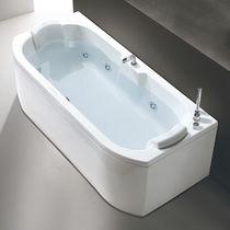 Acrylic bathtub / double / hydromassage / chromotherapy