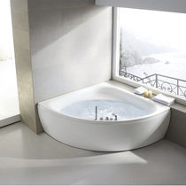 Corner bathtub / acrylic / hydromassage / chromotherapy