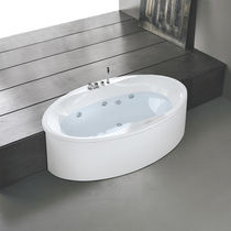 Oval bathtub / acrylic / hydromassage / chromotherapy