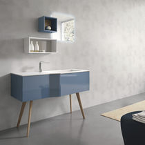 Free-standing washbasin cabinet / ash / composite / contemporary