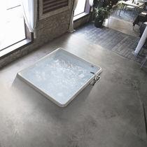 Square bathtub / acrylic / hydromassage / chromotherapy