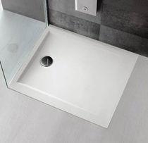 Rectangular shower base / fiberglass / acrylic / extra-flat