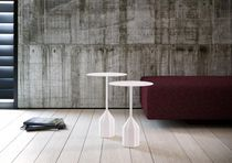 Side table / contemporary / steel / MDF