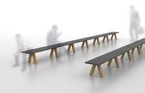 Contemporary bench / oak / MDF