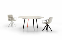 Contemporary table / steel / MDF / square