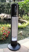 Floor-standing infrared patio heater / electric