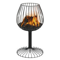 Metal brazier / contemporary