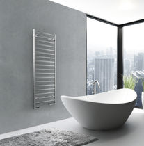 Electric towel radiator / metal / contemporary / vertical