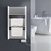 Electric towel radiator / metal / contemporary / bathroom