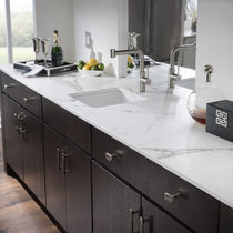 Marble countertop / kitchen / gray