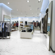 Marble flooring / for public buildings / tile / gray