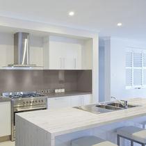 Composite countertop / kitchen / brown
