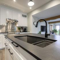 Composite countertop / kitchen / black