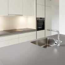 Composite countertop / kitchen / beige / gray