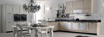 Contemporary kitchen / wooden / L-shaped / lacquered