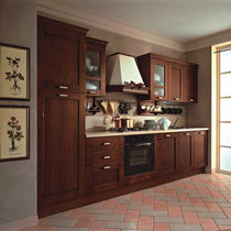 Traditional kitchen / solid wood / wooden / hidden