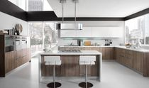 Contemporary kitchen / wooden / island