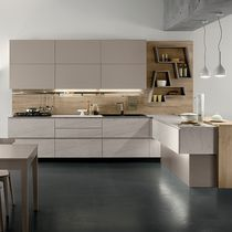 Contemporary kitchen / laminate / L-shaped