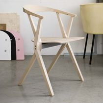 Contemporary chair / folding / stacking / wooden