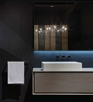 Countertop washbasin / round / rectangular / wood