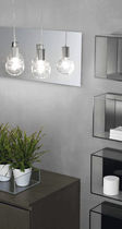 Pendant lamp / contemporary / chromed metal / bathroom