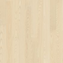 Solid parquet flooring / ash / lacquered / strip