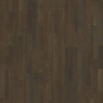 Engineered wood flooring / glued / oak / brushed